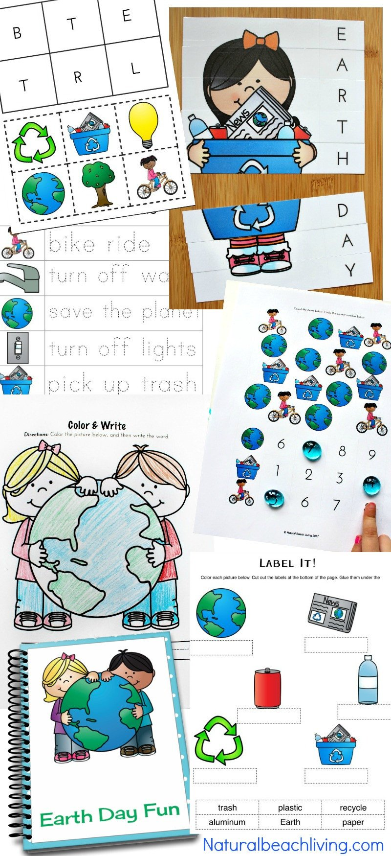 Recycling Worksheets for Kindergarten Earth Day Activities for Preschool & Kindergarten Free