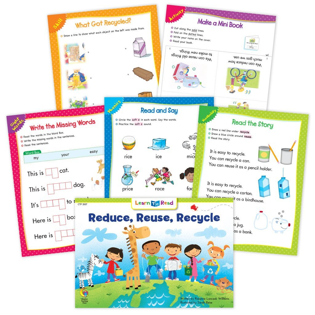 Recycling Worksheets for Kindergarten Reduce Reuse Recycle Worksheets
