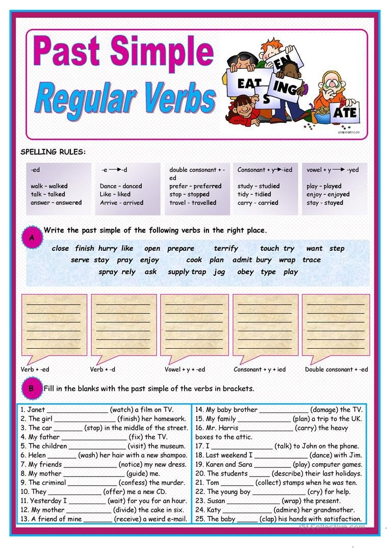 past simple of regular verbs 5697 1