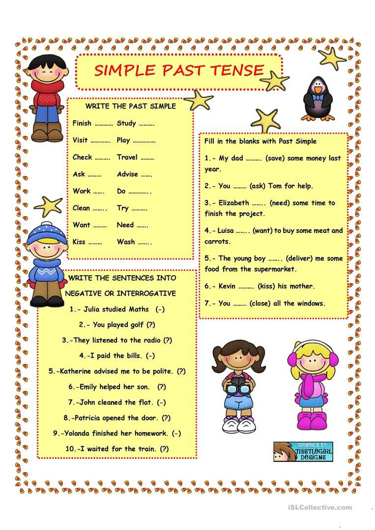 Regular Past Tense Verb Worksheets Simple Past Tense Regular Verbs English Esl Worksheets