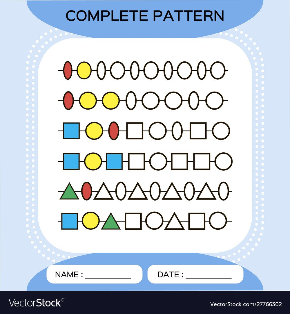 Repeating Patterns Worksheets Plete Repeating Patterns Worksheet for