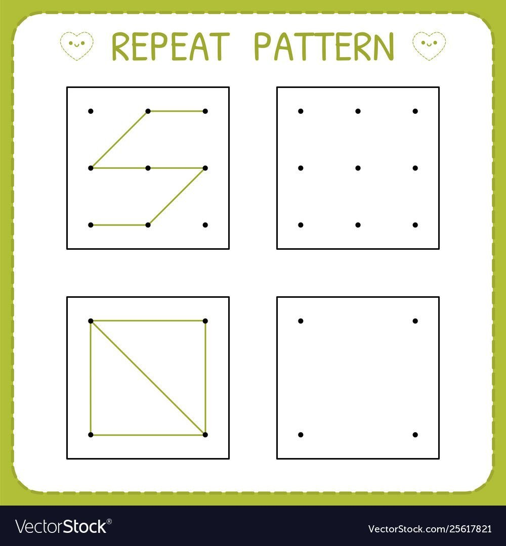 Repeating Patterns Worksheets Repeat Pattern Preschool Worksheet for Practicing Motor