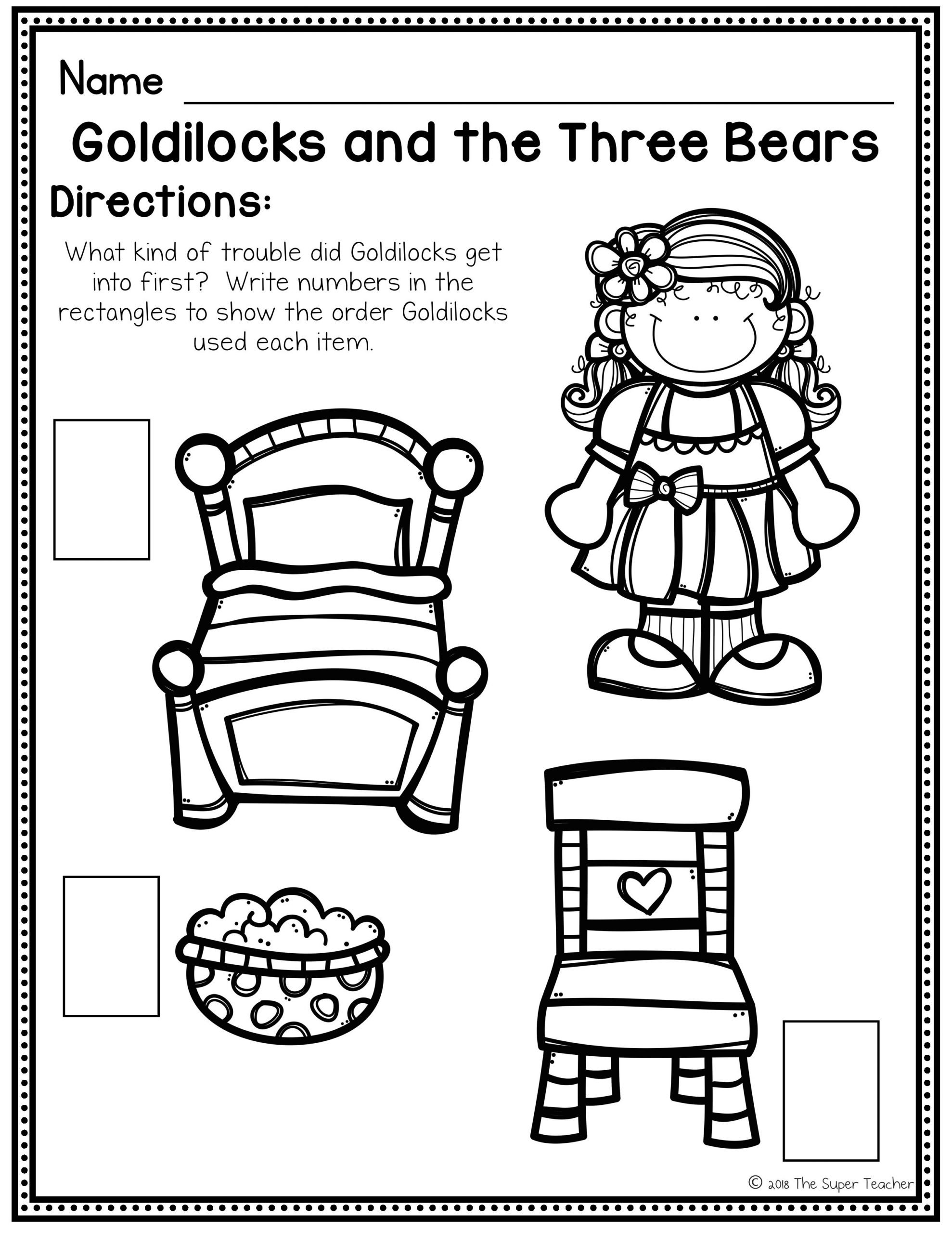 Retell Worksheet First Grade Goldilocks and the Three Bears Story Elements and Story Retelling Worksheets Pack