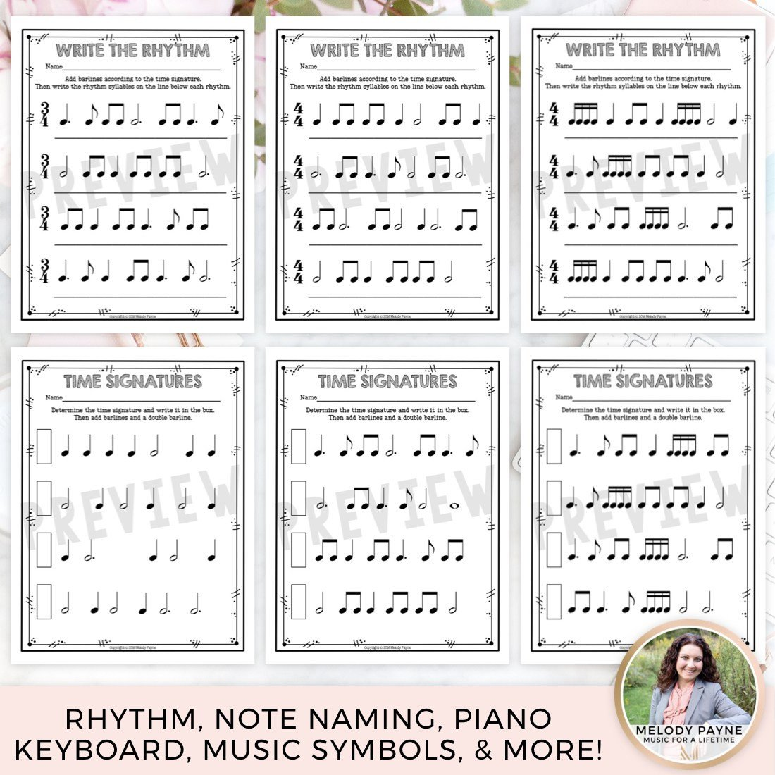 music worksheets over 200 print and go no frills no prep pages