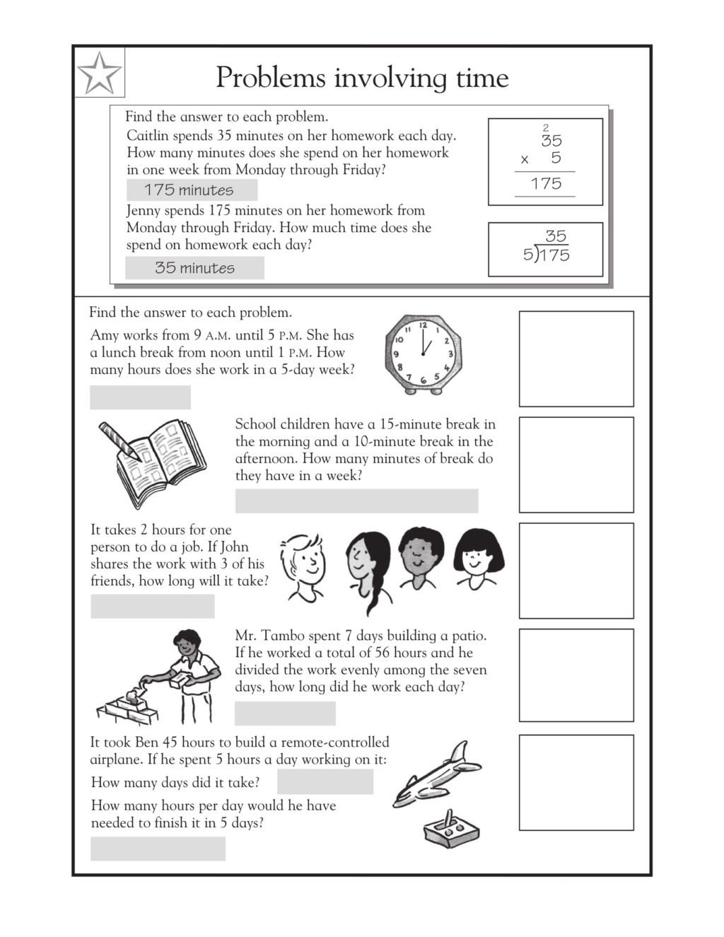 3rde math problems word time sheet hard rounding free online 1024x1325