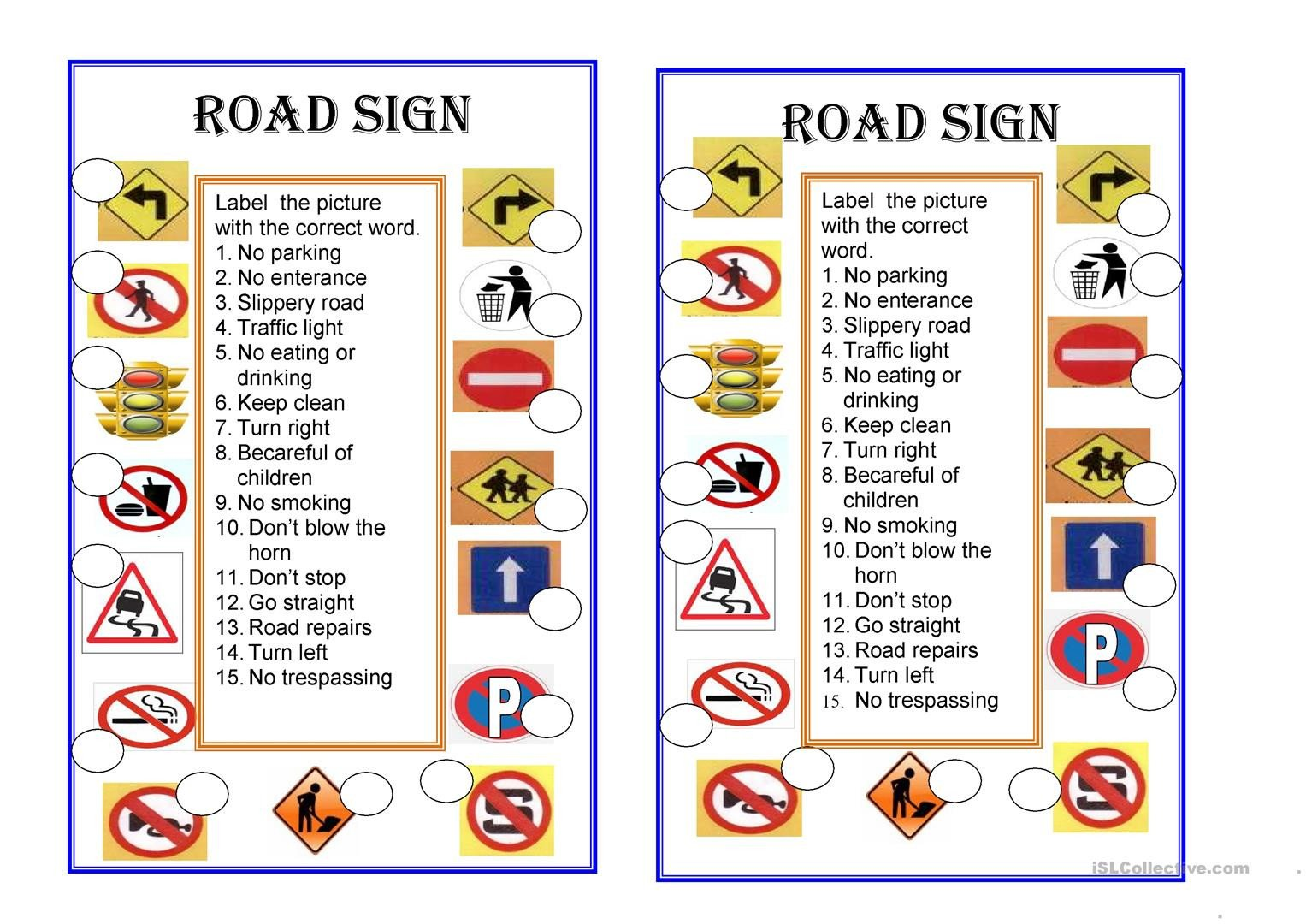 Safety Signs Worksheets Free English Esl Signs Worksheets Most Ed 67 Results