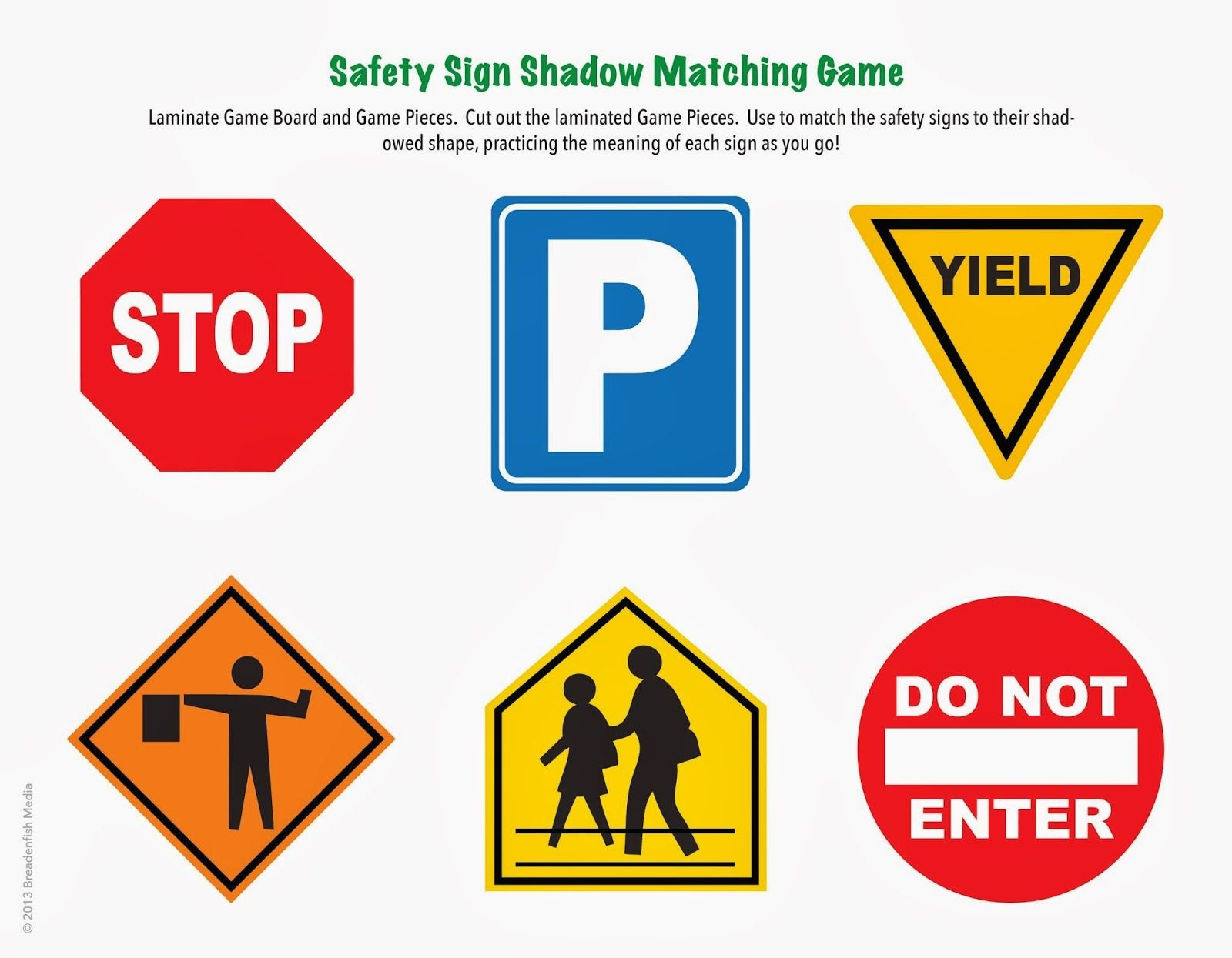 Safety Signs Worksheets Free Games by Ray