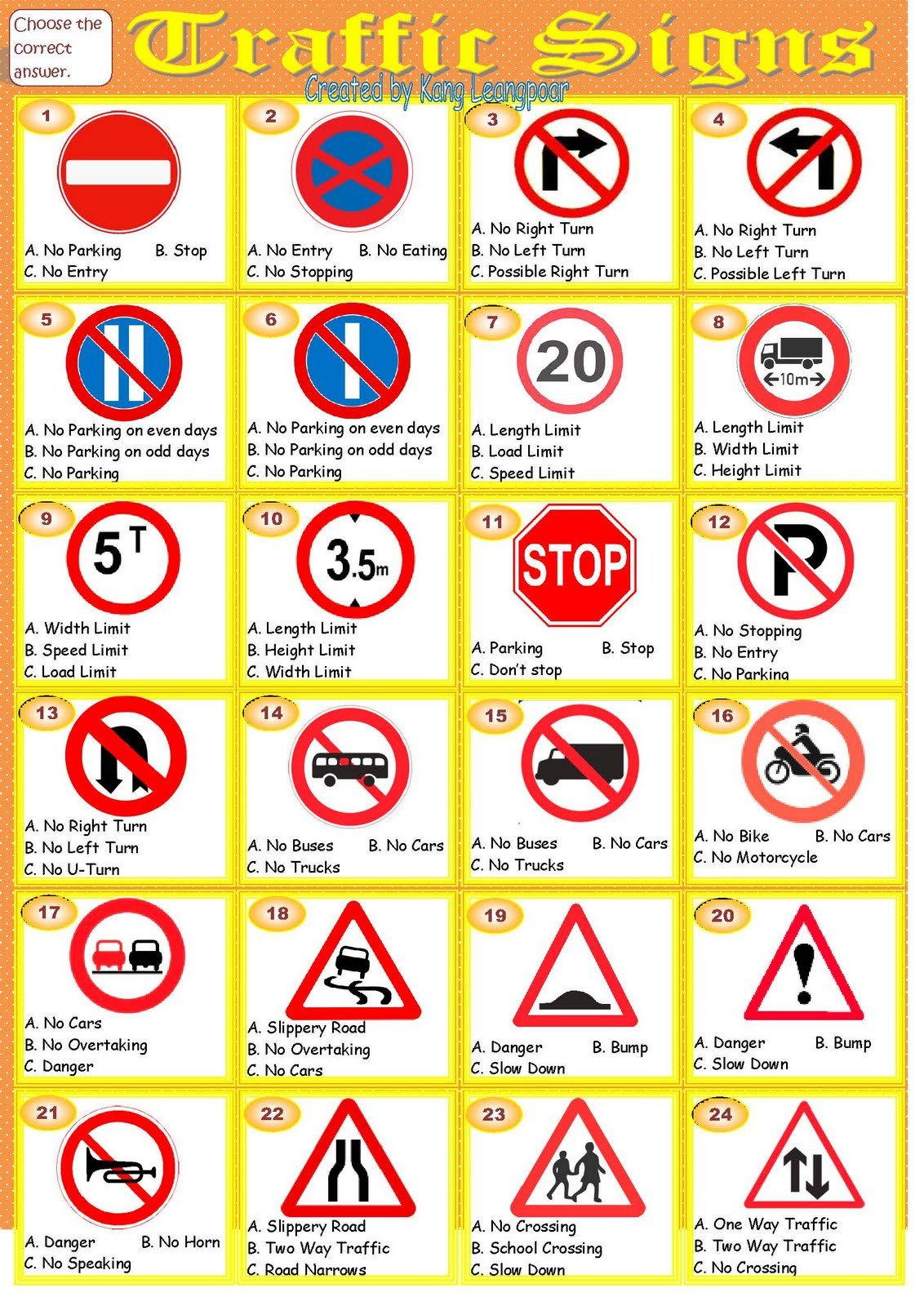Traffic Sign Page 1