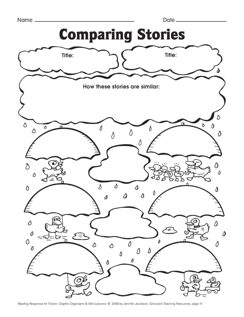 five minute reading responses scholastic first grade exercises paring stories math worksheet free 1024x1330