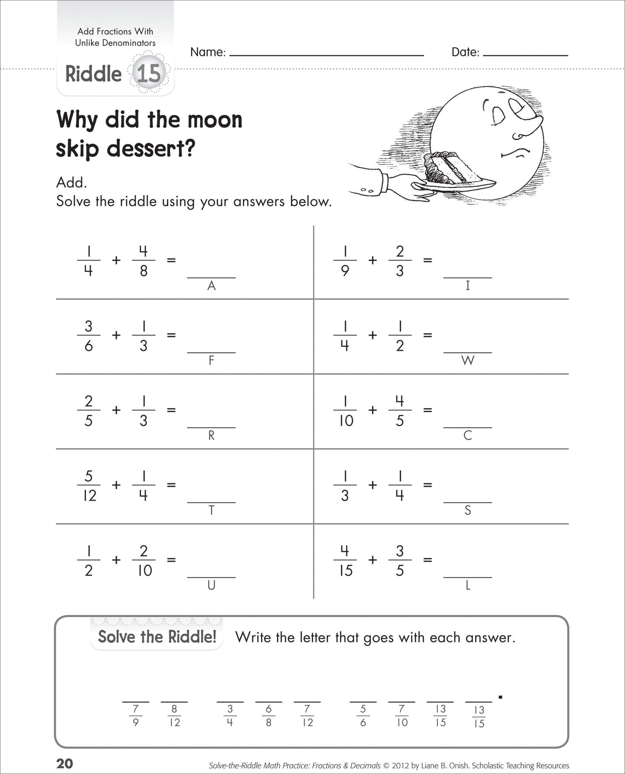 Scholastic Math Worksheets Pin On Fun Math Printable Worksheets