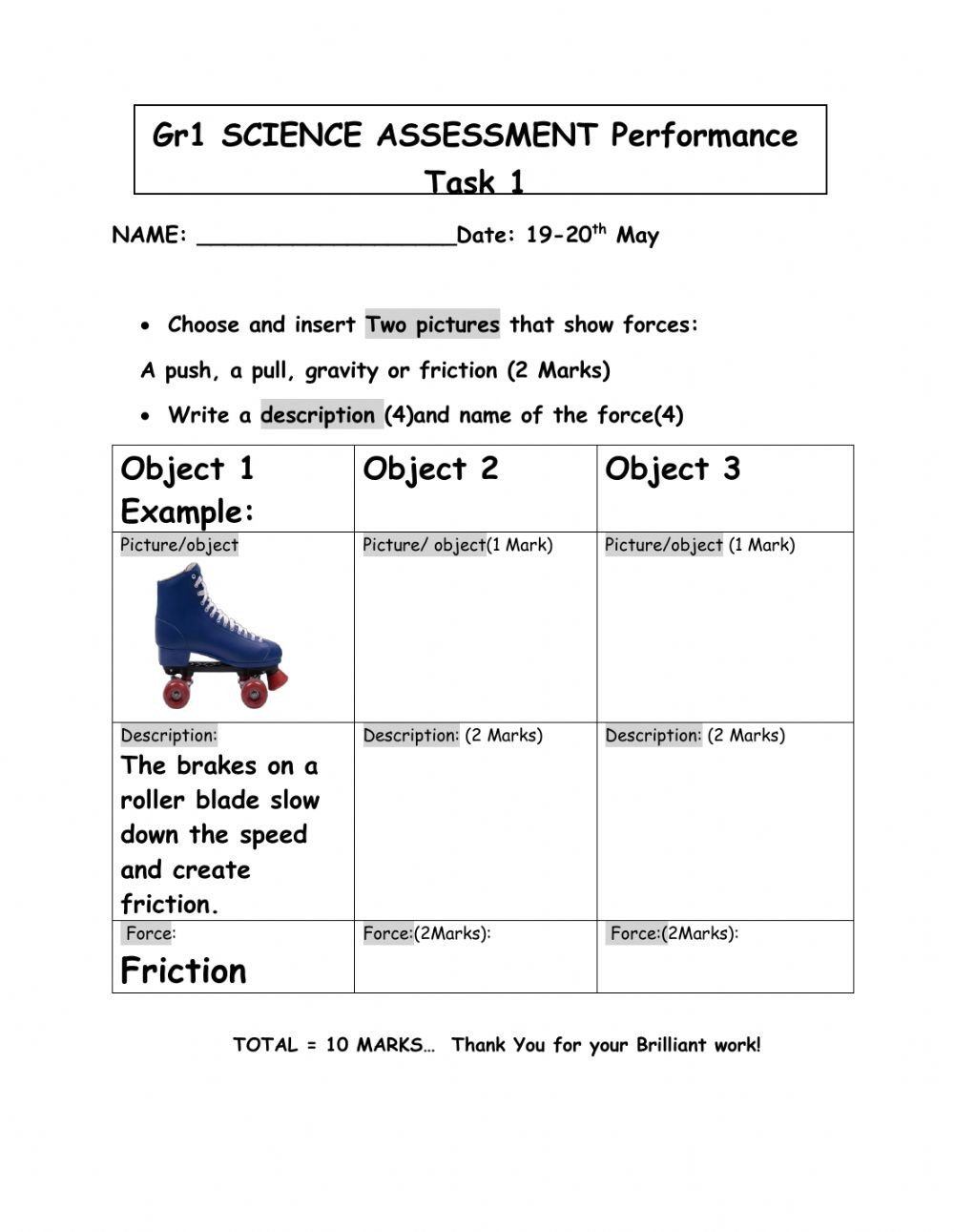 Science force and Motion Worksheets forces Interactive Worksheet