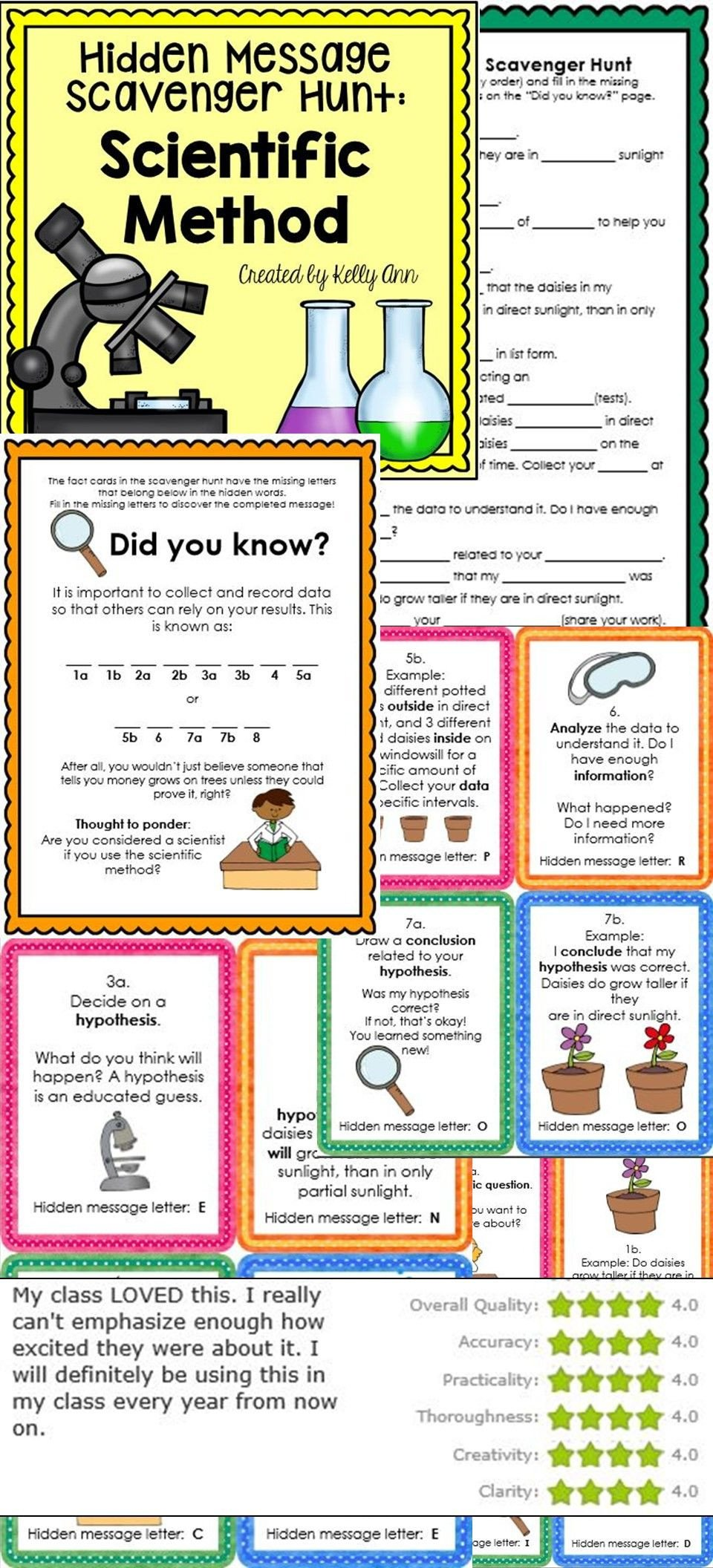 Scientific Method for Kids Worksheets Scientific Method Activity