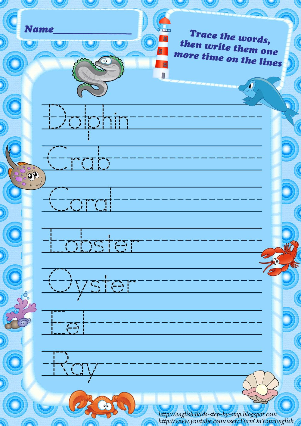 Sea Animal Worksheets Ocean Animals Worksheets