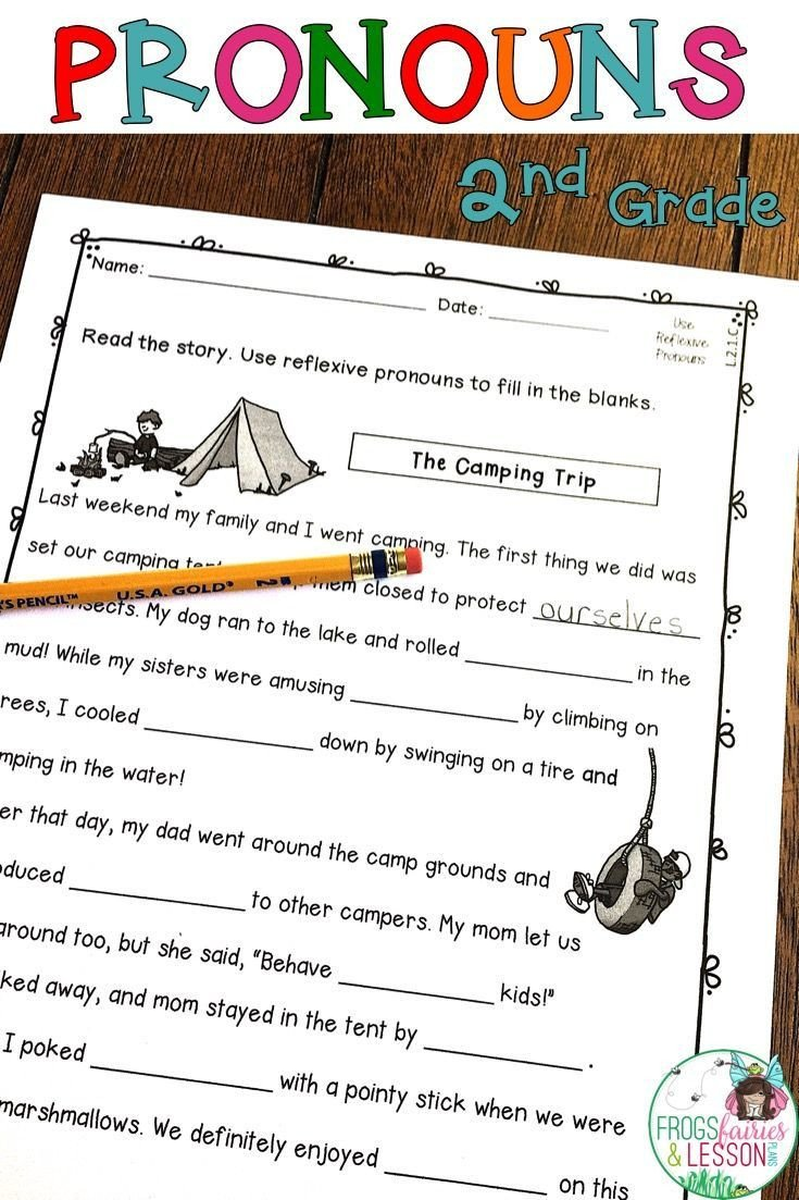 Second Grade Pronouns Worksheet Pronouns 2nd Grade