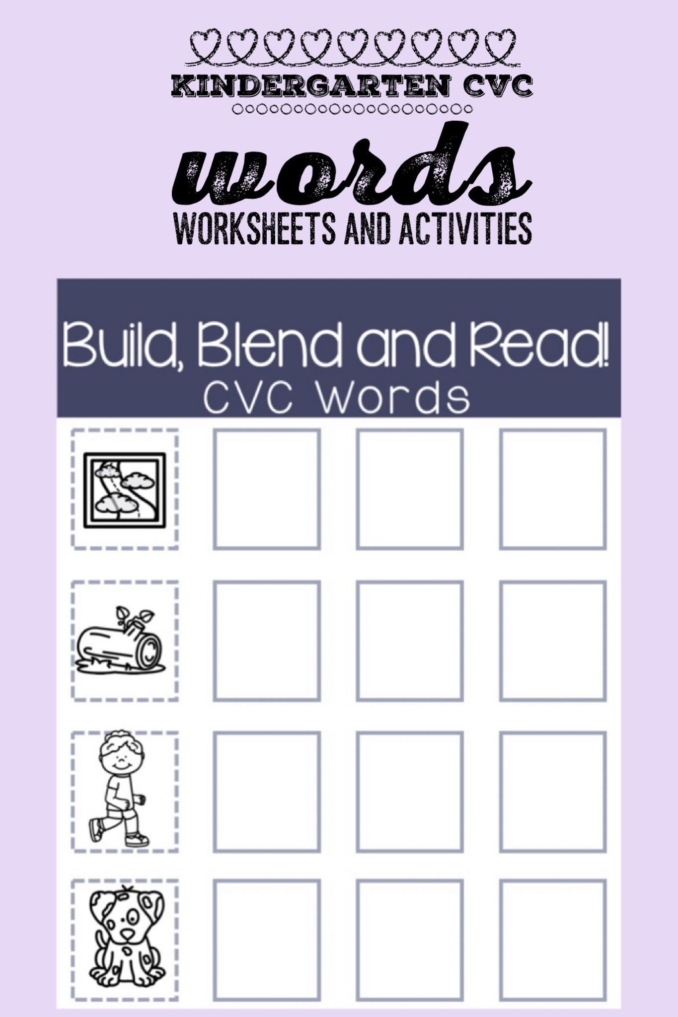 Segmenting Words Worksheets Kindergarten Printable Worksheets and Activities to Practice