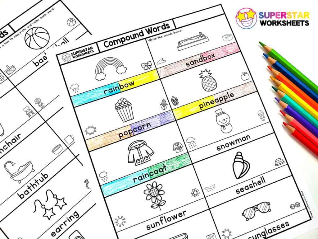 Segmenting Words Worksheets Pound Words Worksheet Superstar Worksheets