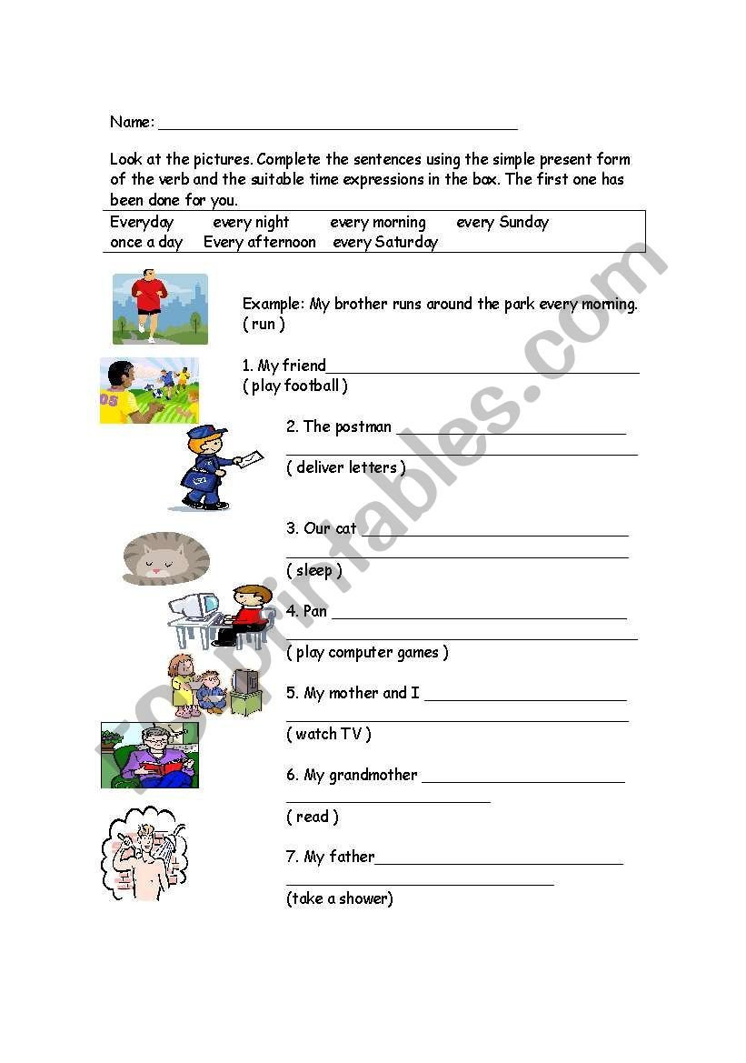 Sentence Completion Worksheets for Adults English Worksheets Sentence Pletion