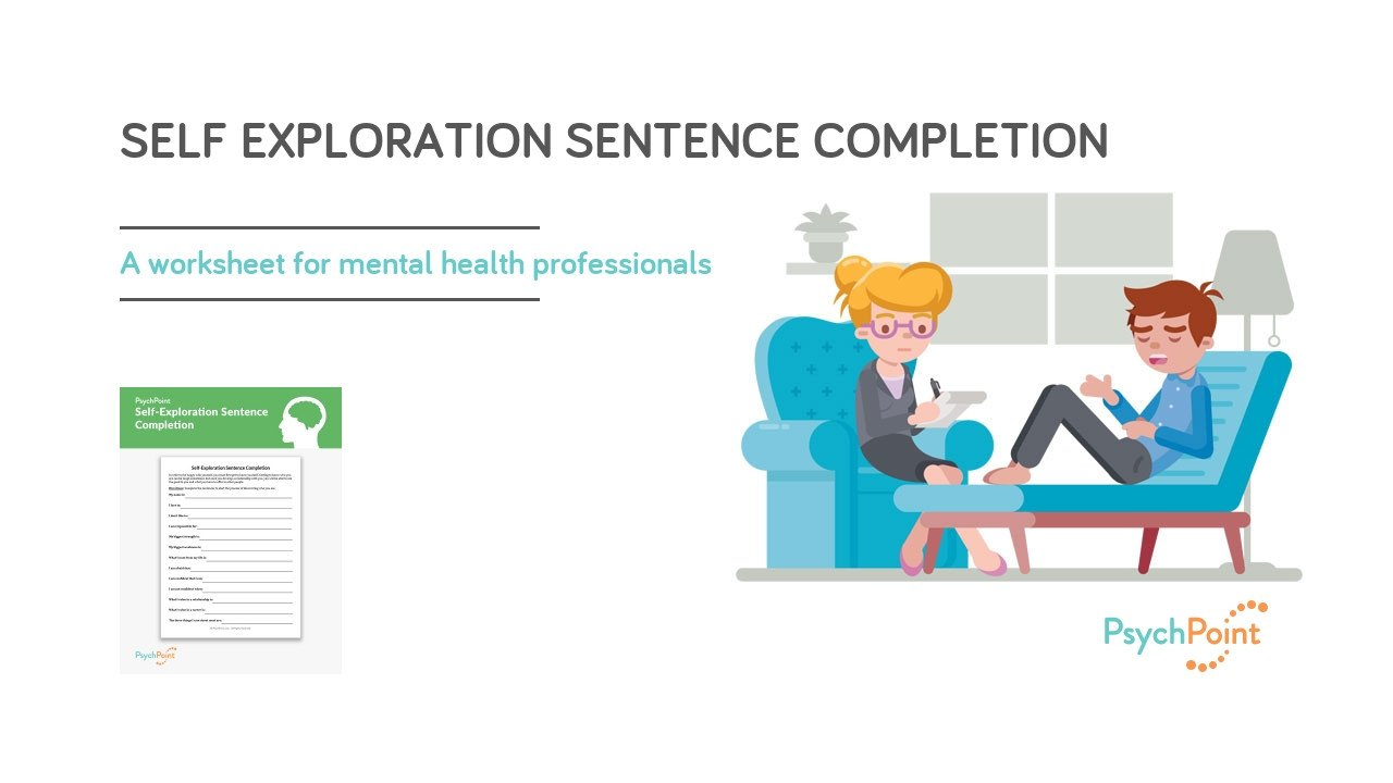 Sentence Completion Worksheets for Adults Self Exploration Sentence Pletion Worksheet
