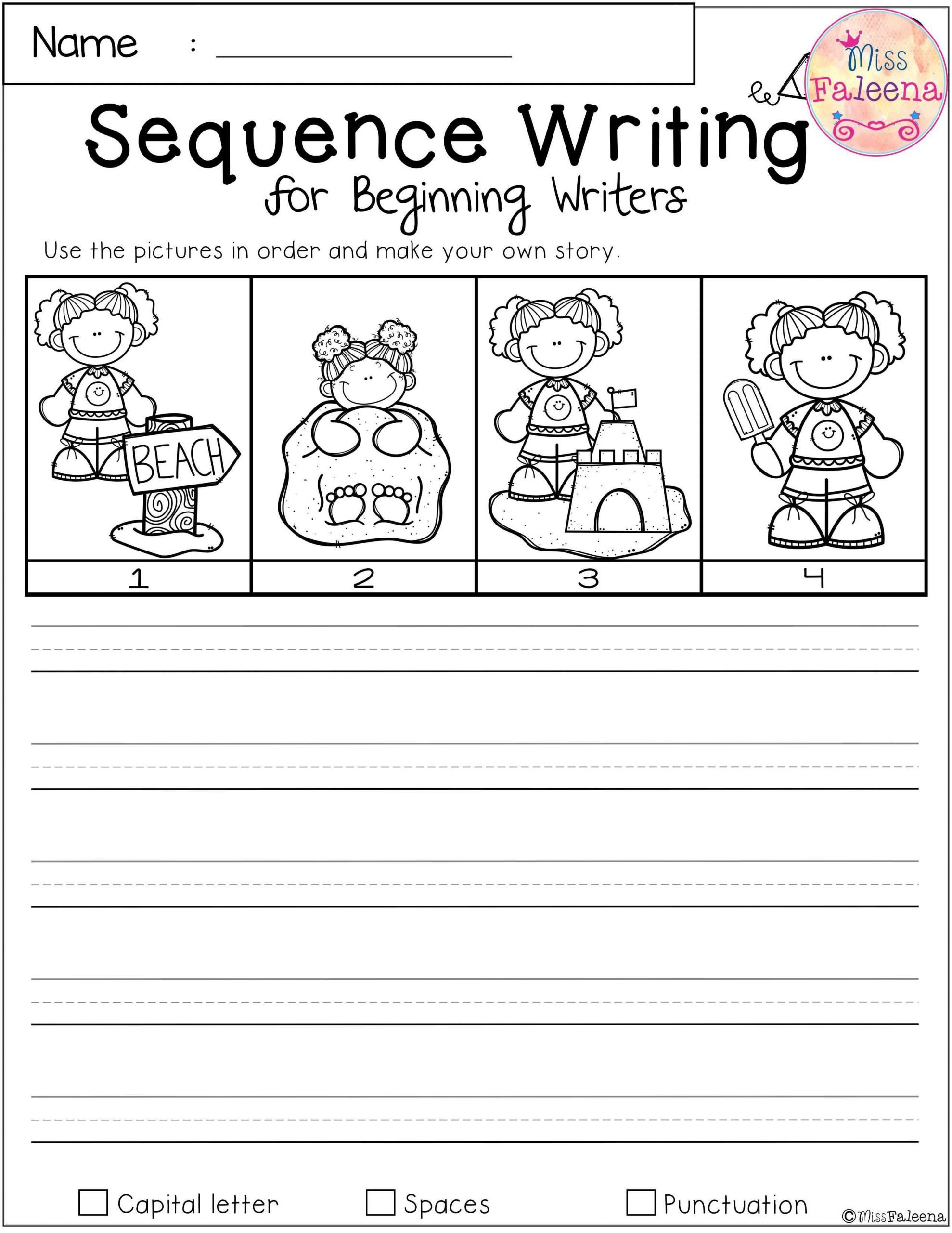 Sequence Story Worksheets Free Sequence Writing for Beginning Writers