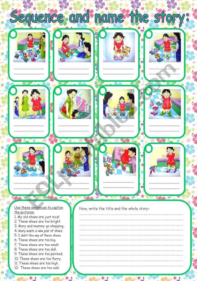 Sequence Story Worksheets Sequence the Story Esl Worksheet by Rumeisa