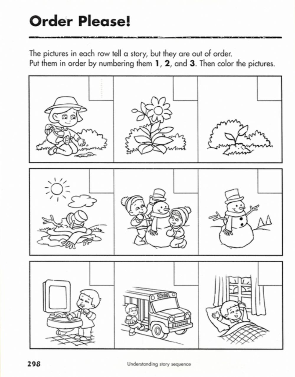 Sequence Story Worksheets Sequences Of events Interactive Worksheet