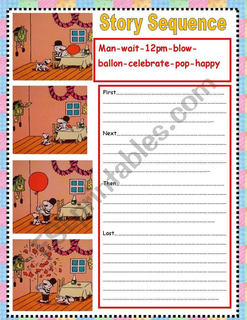 Sequence Story Worksheets Story Sequence Esl Worksheet by nora85