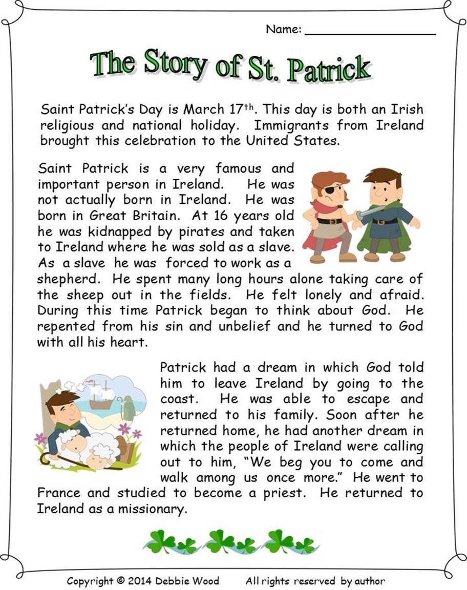 Sequence Story Worksheets the Story St Patrick Reading 3 Vocabulary Worksheets