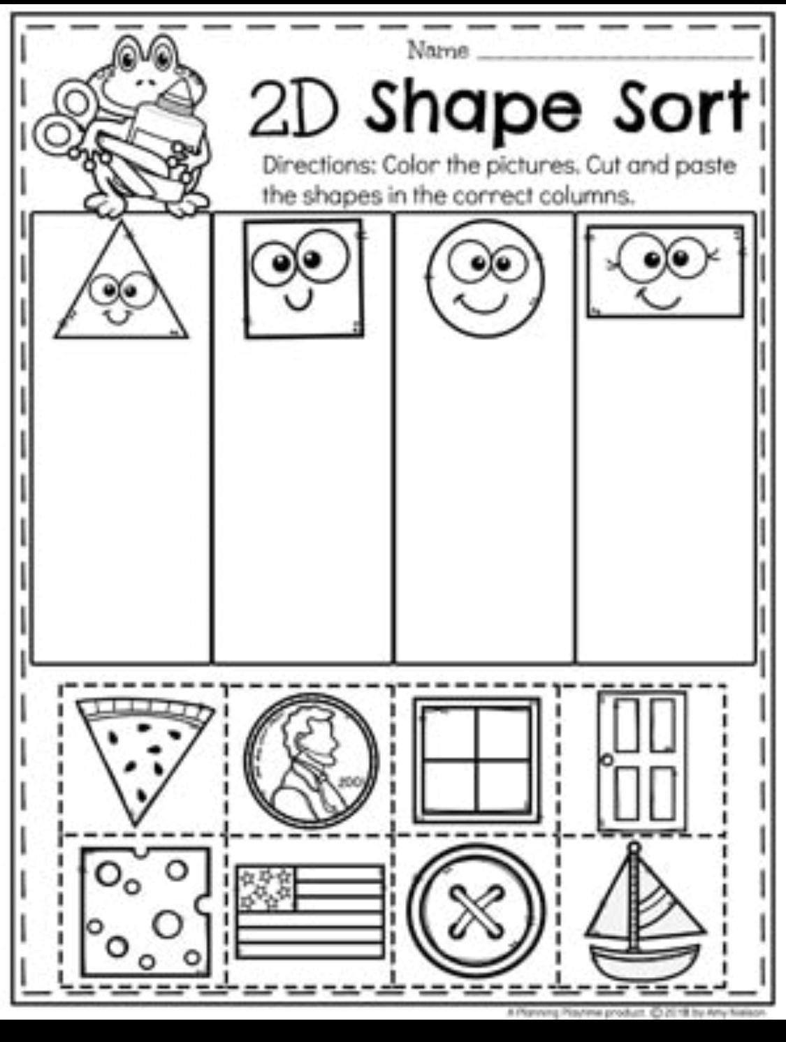 Shapes Worksheet for Kindergarten 20 2d Shapes Worksheet Kindergarten