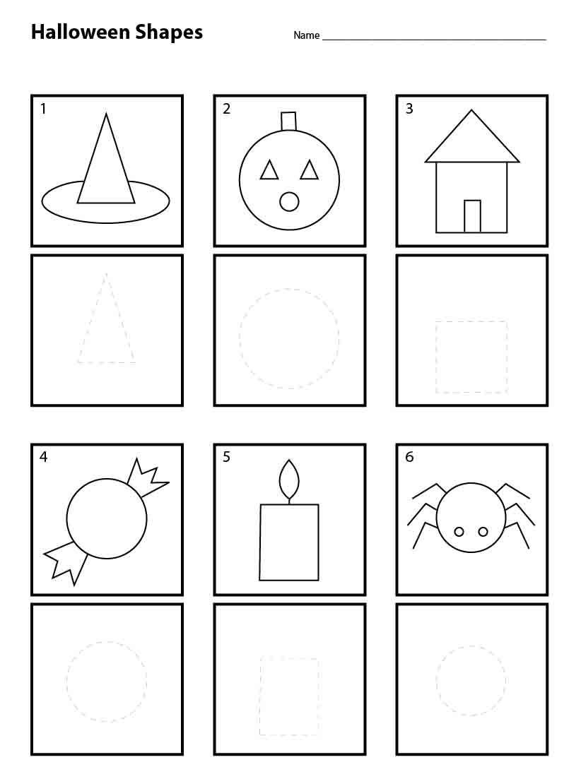 Shapes Worksheet for Kindergarten Basi Math Martin Luther King Day Worksheets Halloween Shapes