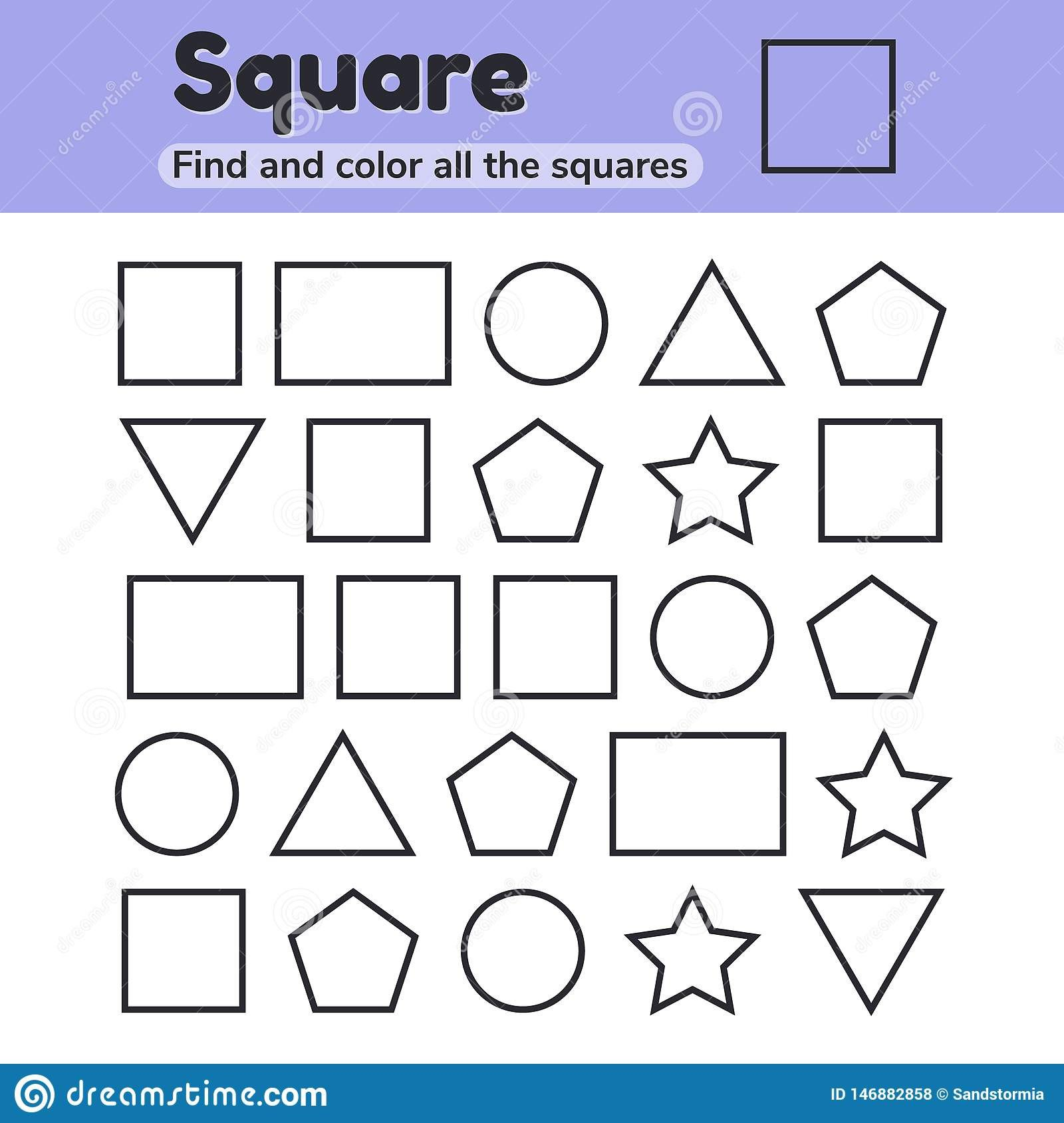 Shapes Worksheet for Kindergarten Educational Worksheet for Kids Kindergarten Preschool and