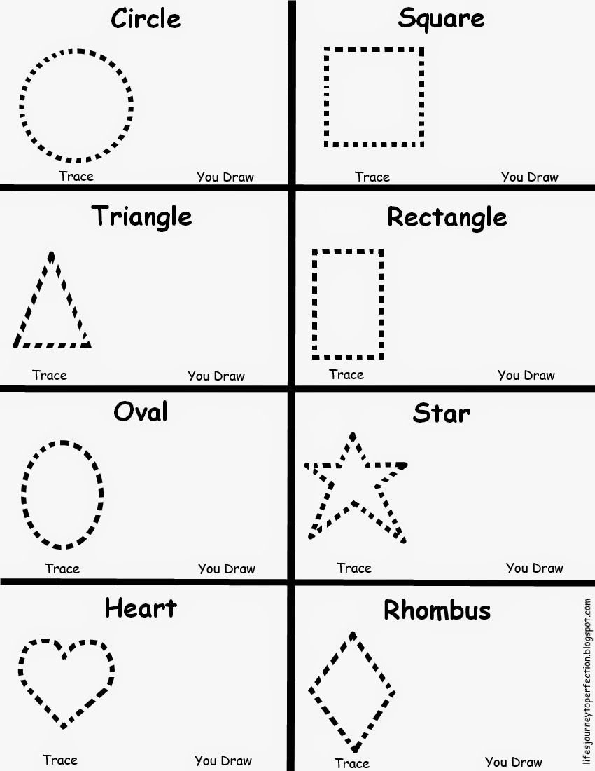 Shapes Worksheet for Kindergarten Preschool Shapes Worksheet