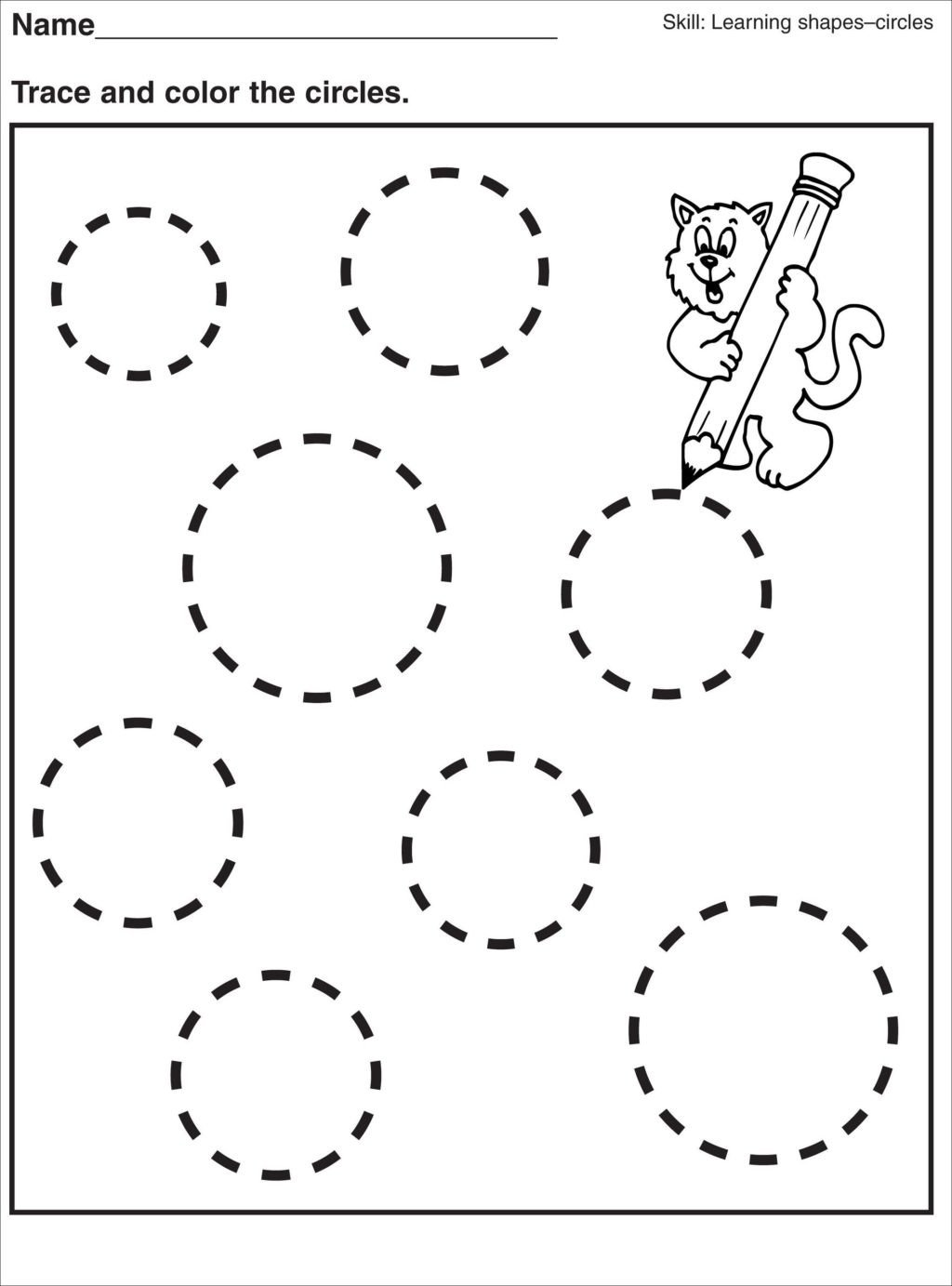 Shapes Worksheet for Kindergarten Worksheet Tracing Pagesor Preschool Shapes Worksheet