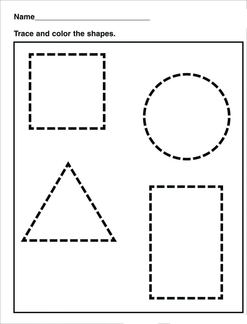 Shapes Worksheet for Kindergarten Worksheets Preschool Shapes Worksheets and Printables