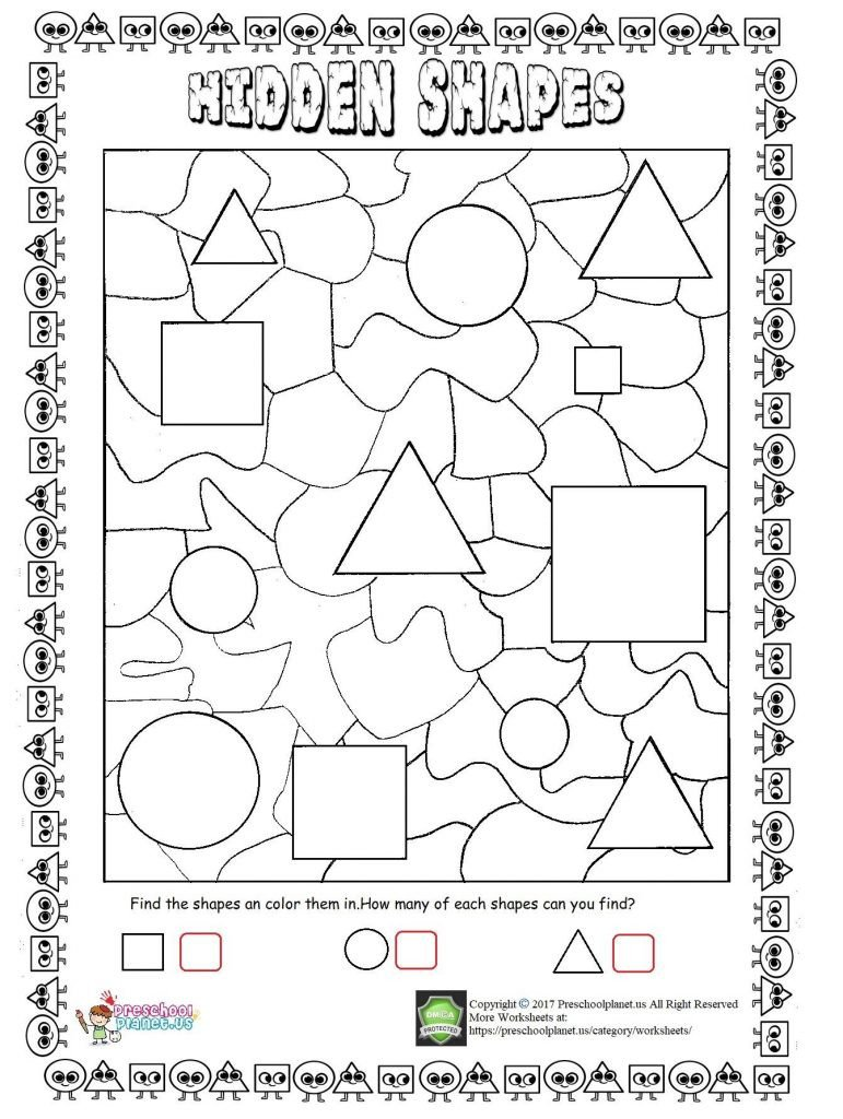 Hidden shapes worksheet 771x1024