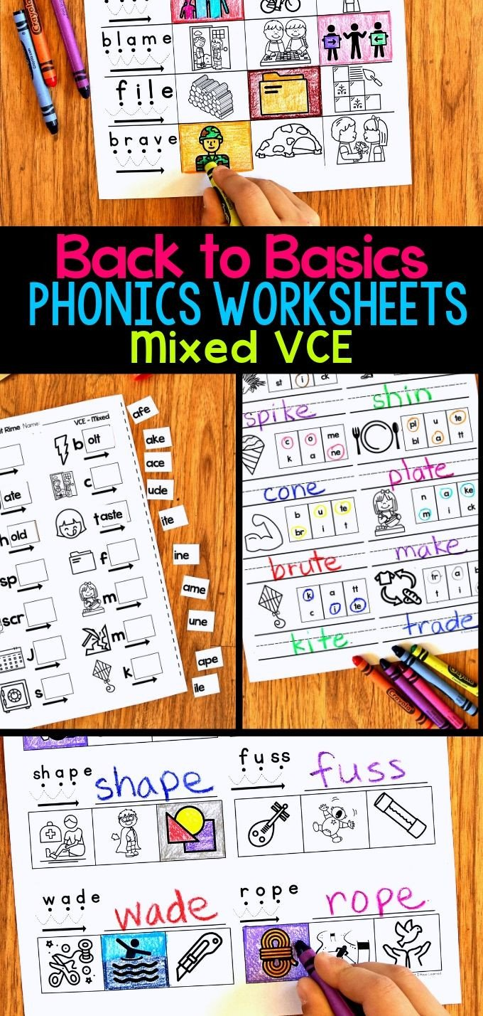 Silent E Words Worksheets Vce Phonics Worksheets Silent E Worksheets