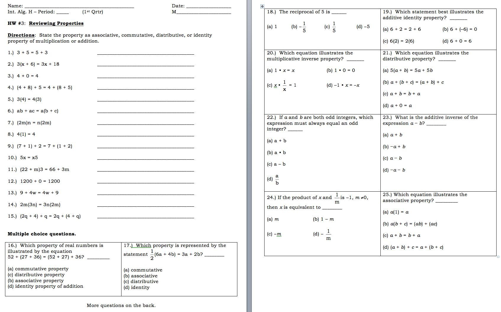 distributive property with variables worksheet to her with worksheet 2 1 bining like terms and distributive property of distributive property with variables worksheet