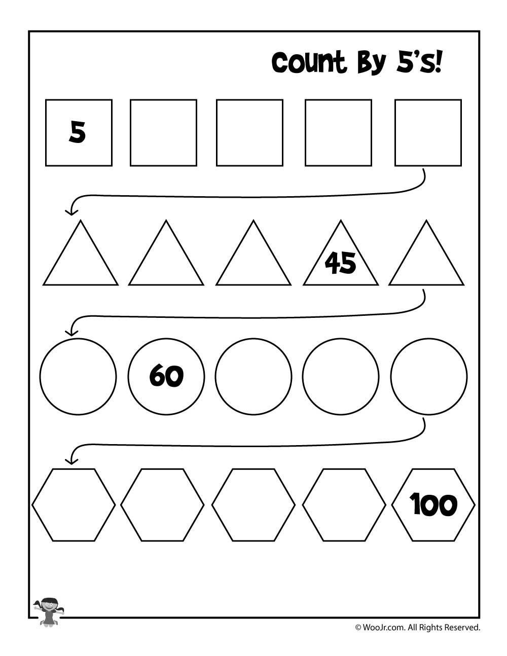 Skip Counting Worksheets 3rd Grade Printable Skip Count by 5 Worksheet for Kids Worksheet Ideas