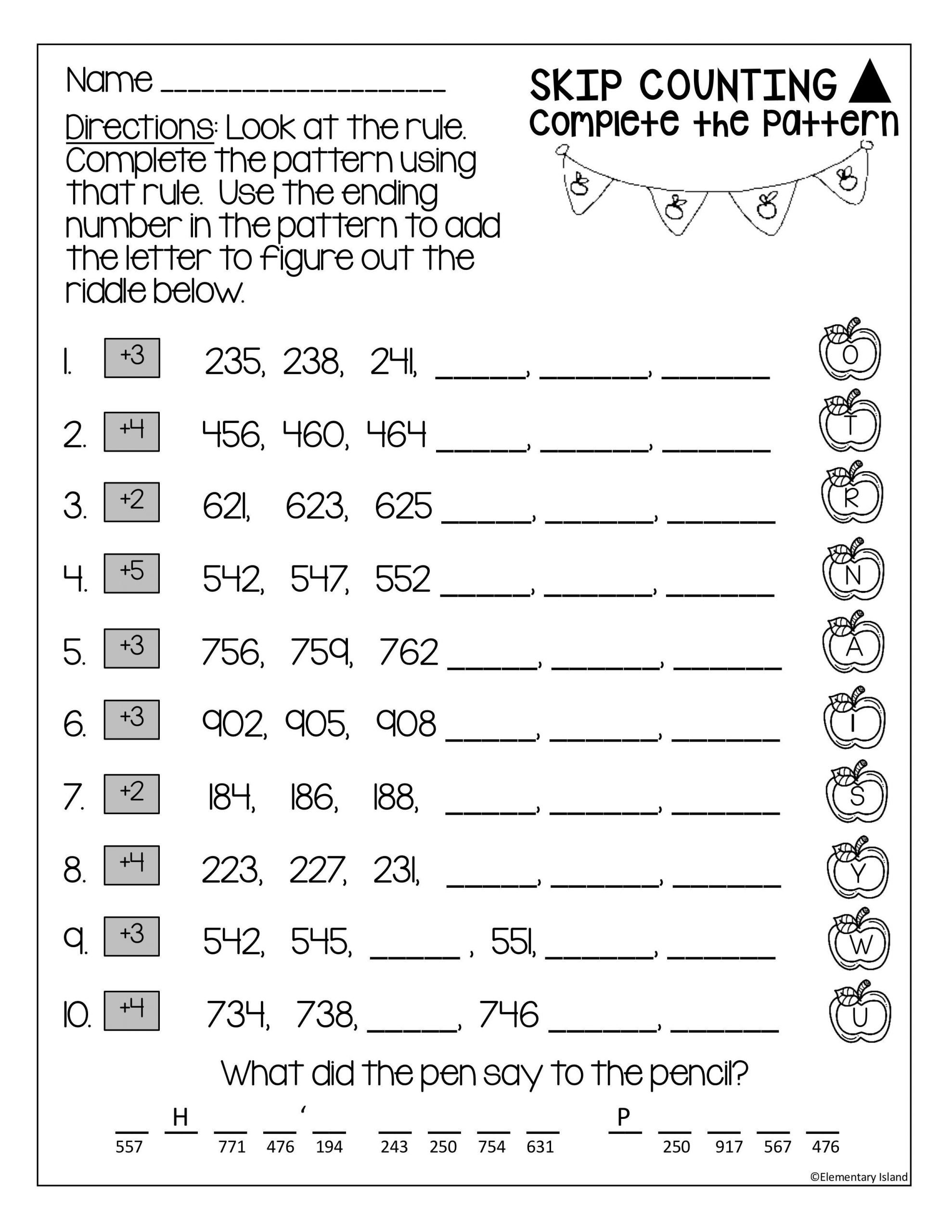 Skip Counting Worksheets 3rd Grade Skip Counting Worksheets 3 Digit