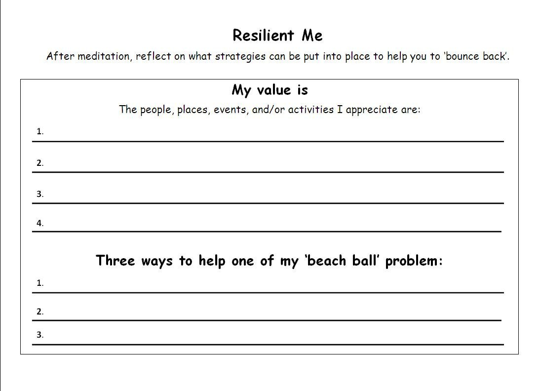 Social Skills Worksheets for Children Celeste Mcbow Resilient Emotional Resilience Worksheets