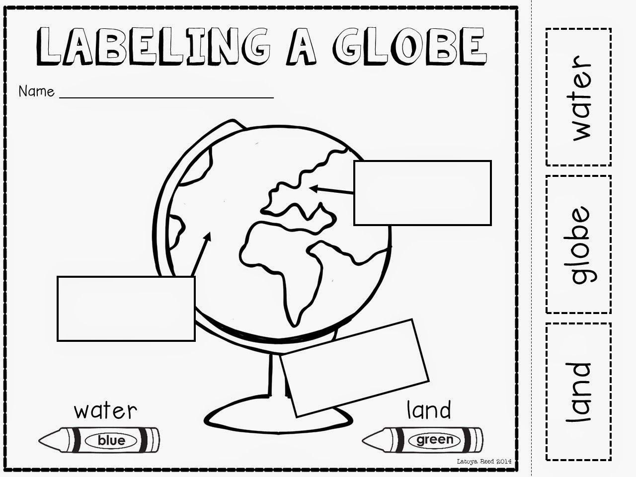 Social Studies Worksheets for Kindergarten Maps and Globes Freebie