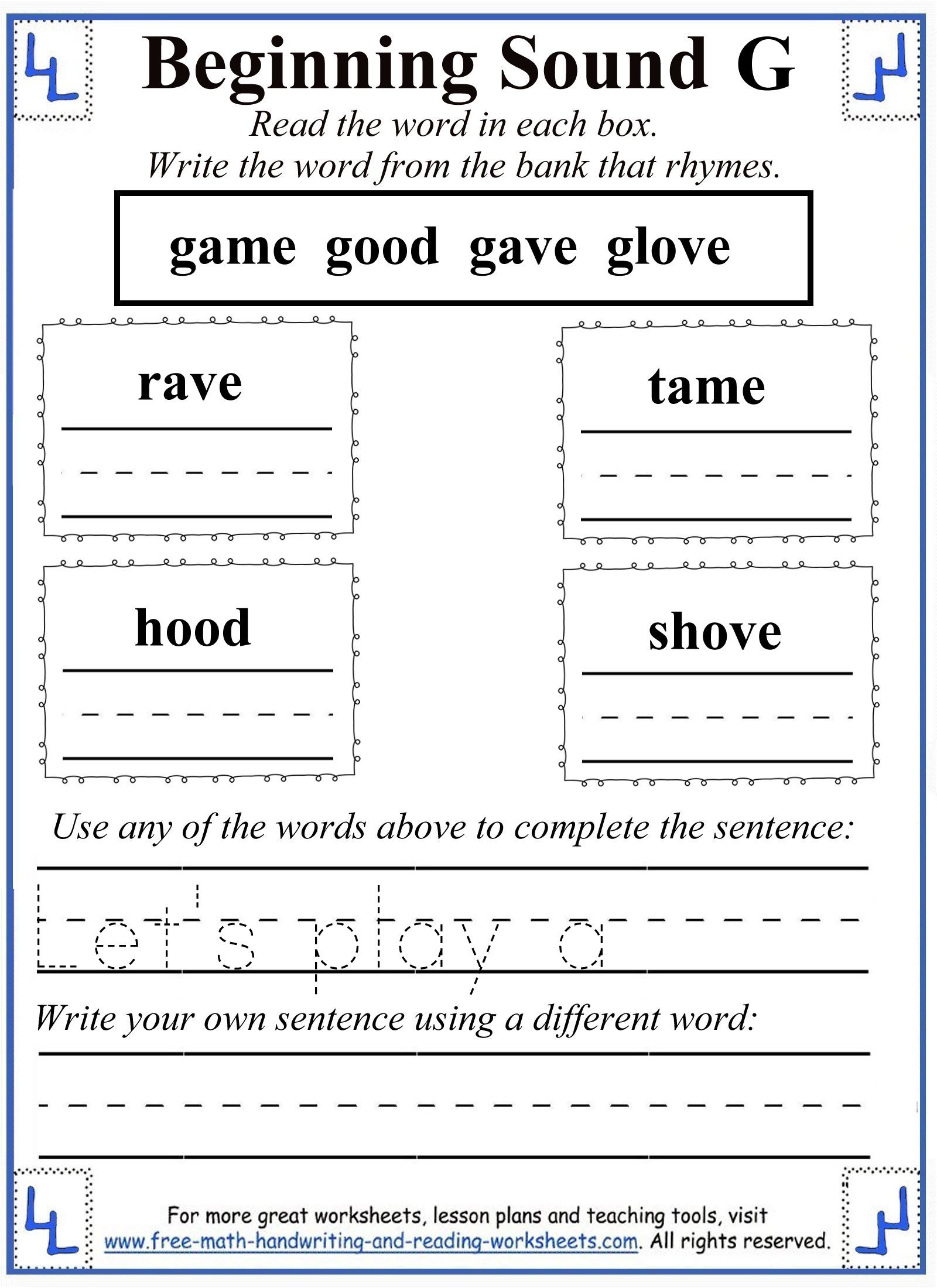 Soft G Worksheet Letter G Worksheet Activities