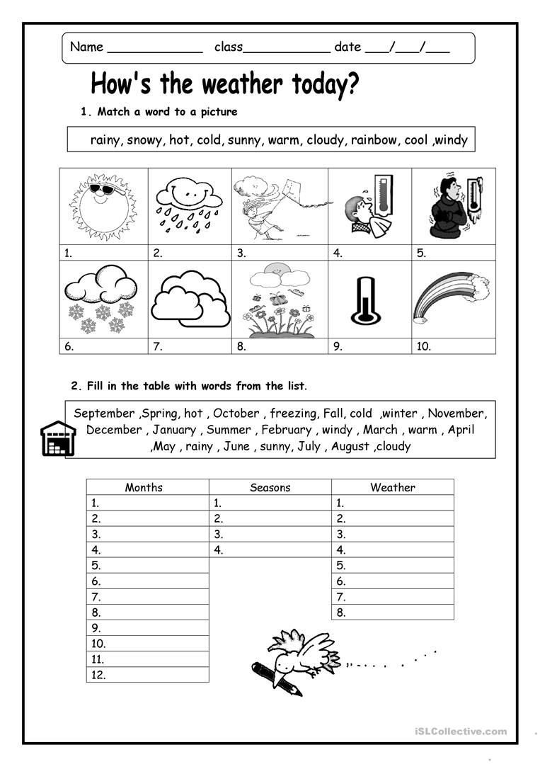 Spanish Months and Seasons Worksheets Weather Worksheets Skylikes Yahoo Image Search Results