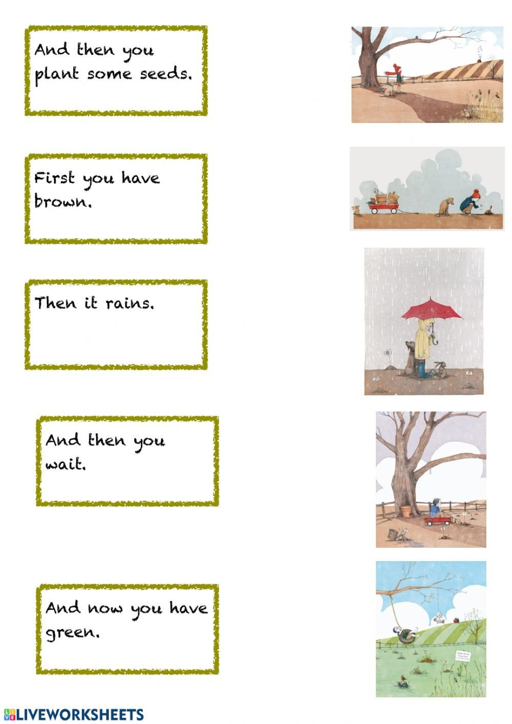 Spring Comprehension Worksheets and then It S Spring Interactive Worksheet