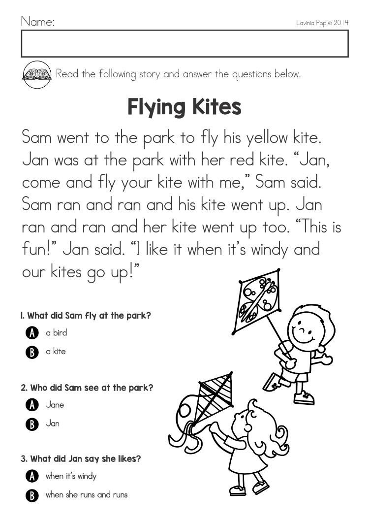 Spring Comprehension Worksheets Spring Kindergarten Math and Literacy Worksheets