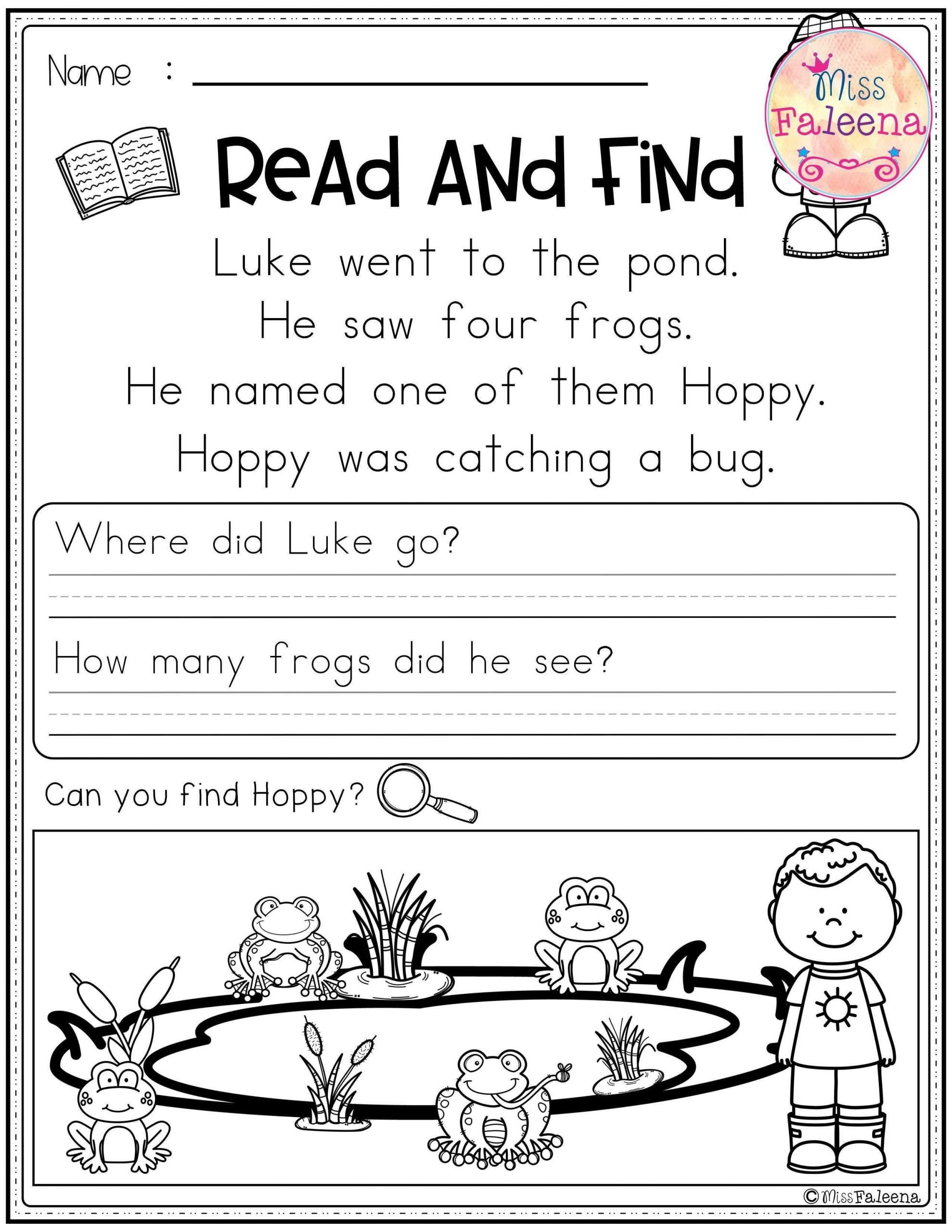 Spring Comprehension Worksheets Spring Prehension Worksheet
