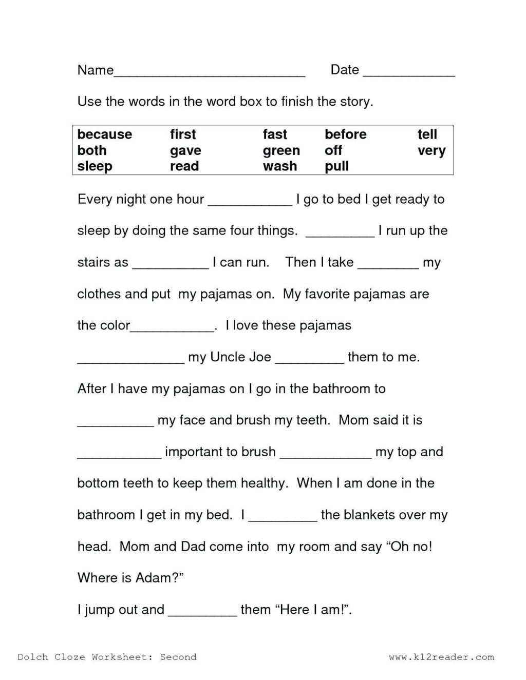 Spring Comprehension Worksheets Worksheet First Grade Readingn Worksheet Spring Printable