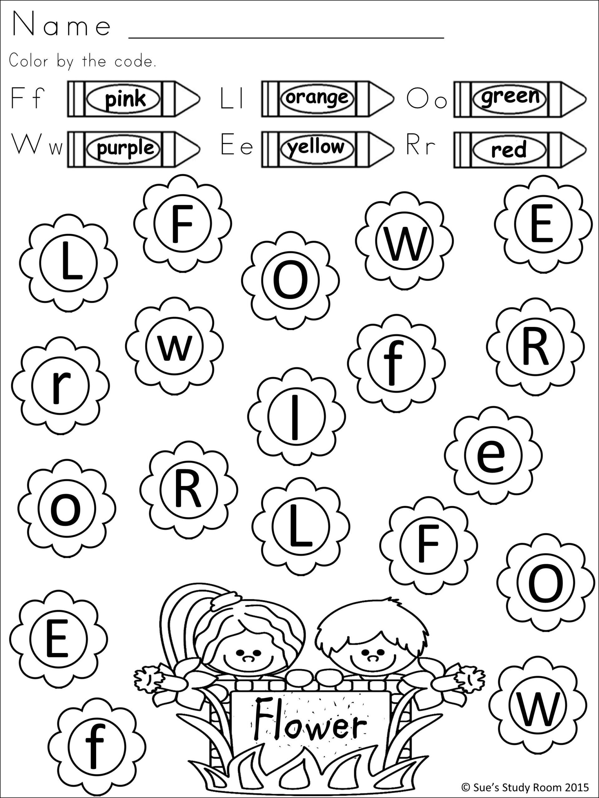 Spring Comprehension Worksheets Worksheets Spring Letter Recognition for Prek and