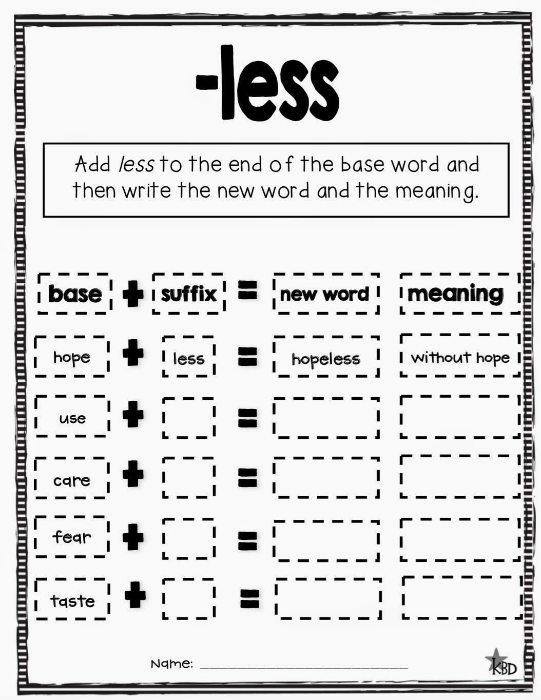 Suffix Ly Worksheet Primary Pals Suffixes Less Ly Ful