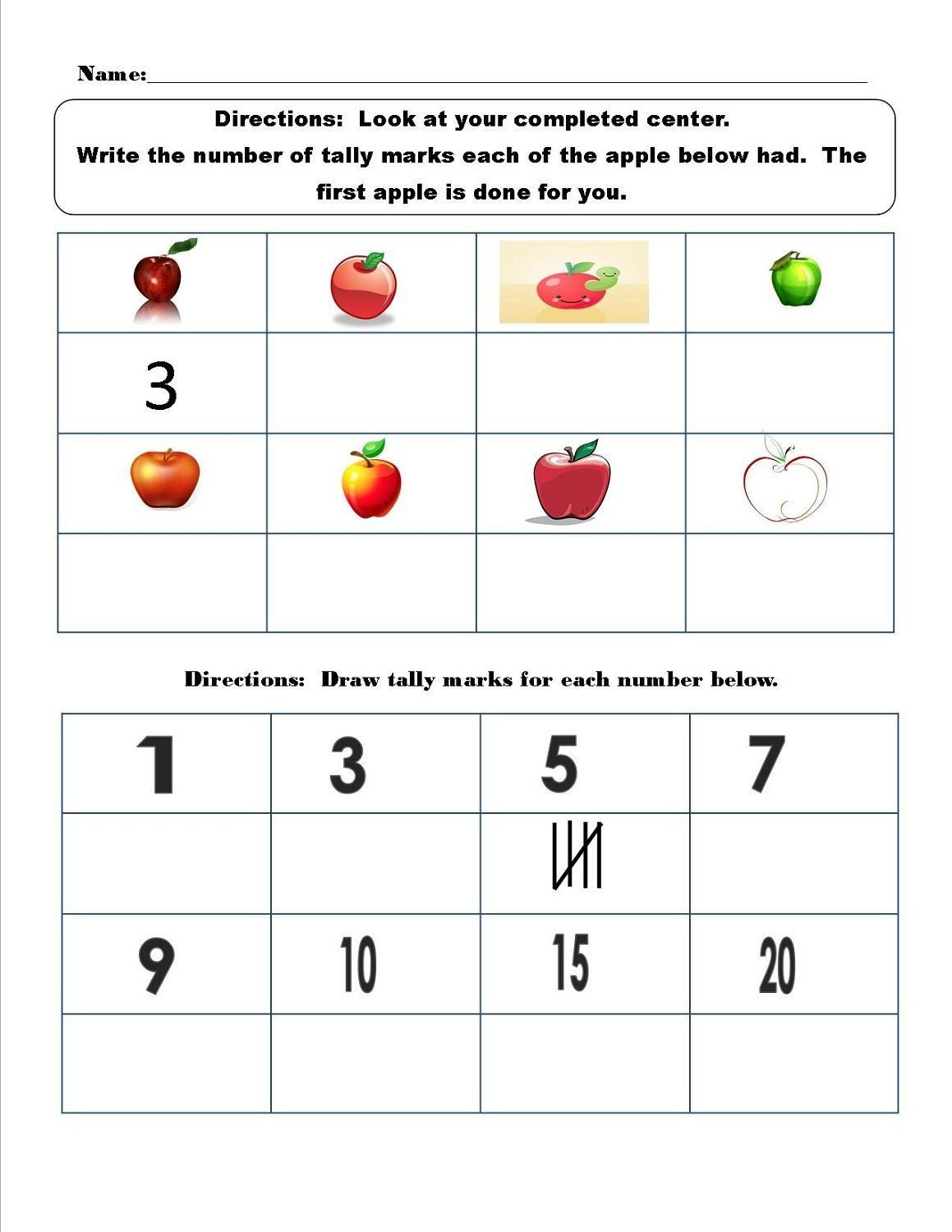 tally mark worksheet for kids K5 Worksheets