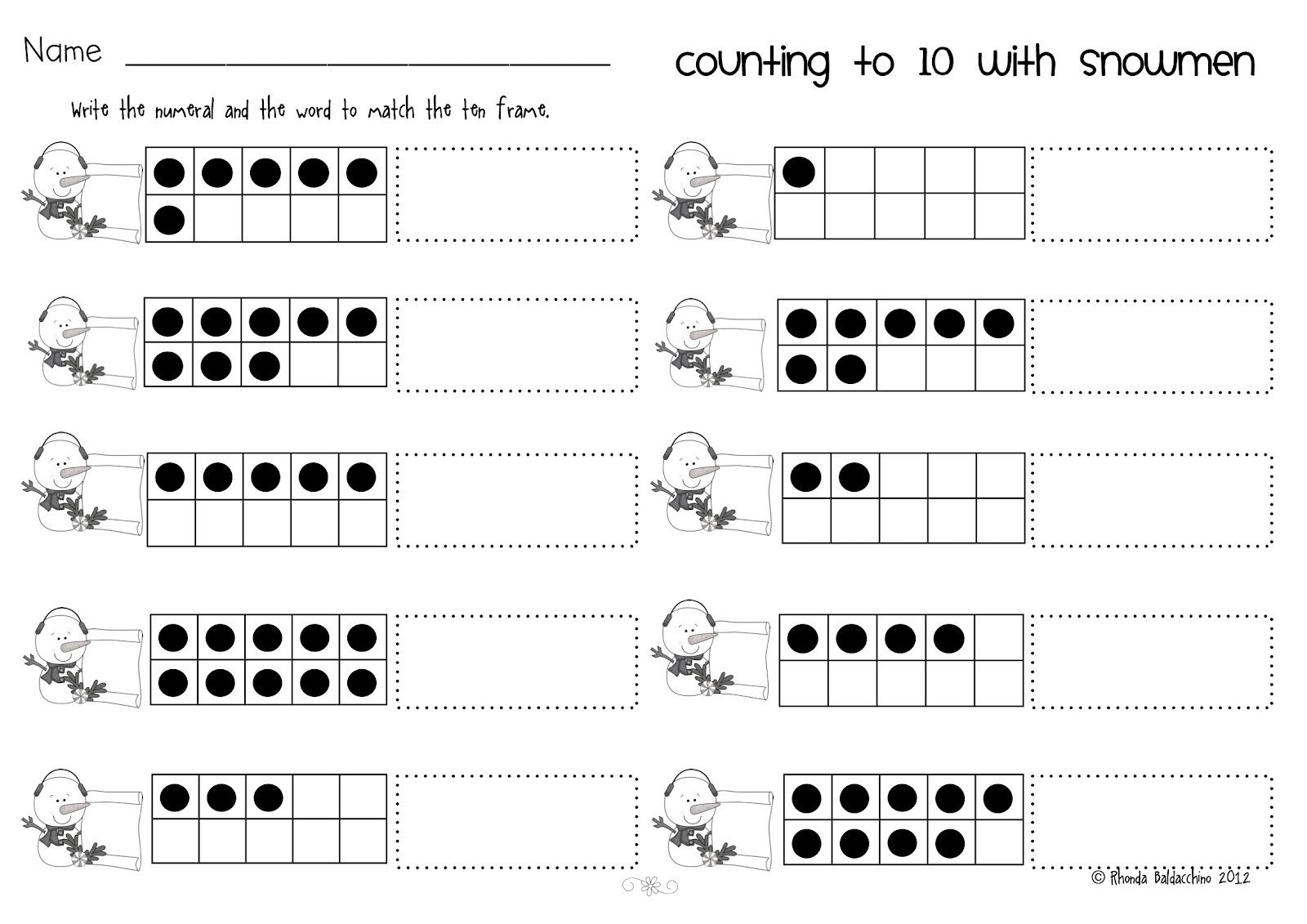 Ten Frames Worksheet Kindergarten Worksheet Memory Games for Year Olds 8th Grade social